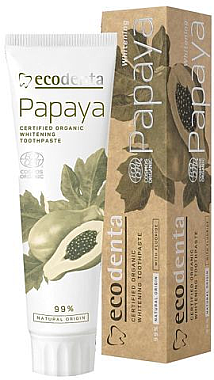 Aufhellende Bio Zahnpasta mit Papayaextrakt - Ecodenta Papaya Whitening Toothpaste — Bild N1