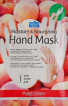 Düfte, Parfümerie und Kosmetik Feuchtigkeitsspendende und nährende Handschuhmaske mit Pfirsichextrakt und Sheabutter - Purederm Moisture & Nourishing Hand Mask