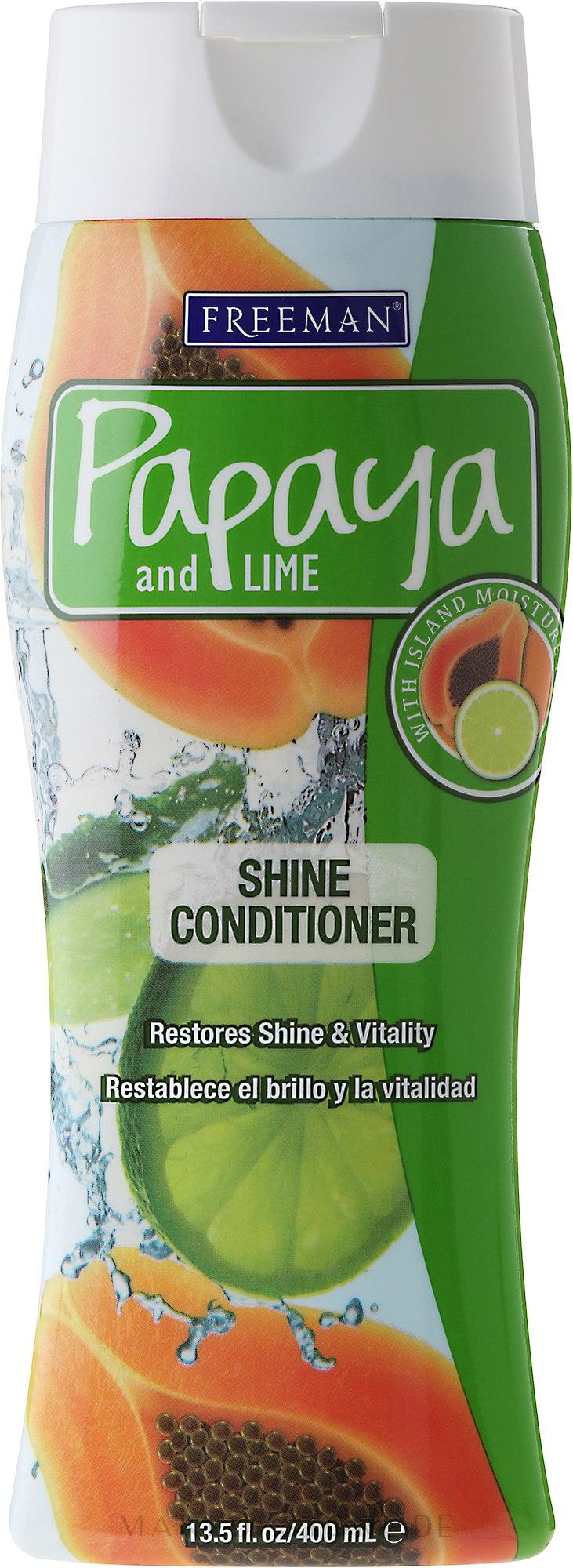 Haarspülung für glänzendes Haar - Freeman Papaya and Lime Shine Conditioner — Bild 400 ml