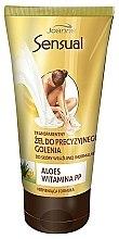 Düfte, Parfümerie und Kosmetik Rasiergel mit Aloe Vera und Vitamin PP für empfindliche und normale Haut - Joanna Sensual Transparent Gel