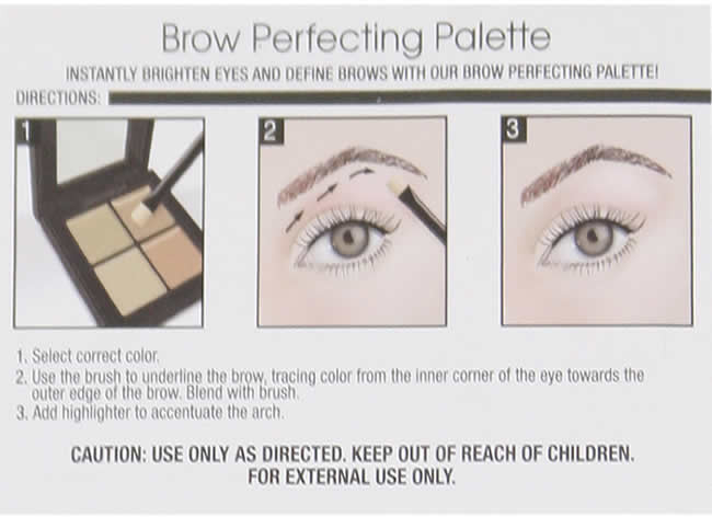 Augenbrauenhighlighter-Palette - Ardell Brow Perfecting Palette — Bild N3