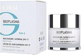 Düfte, Parfümerie und Kosmetik Feuchtigkeitsspendende Gesichtscreme für normale bis fettige Haut - Gigi Bioplasma Moist Oil SPF-17