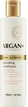 Düfte, Parfümerie und Kosmetik Farbschutzender Conditioner mt Ceramiden und Seidenaminosäuren für lange Haare - Argan + Long & Strong Smoothing Conditioner