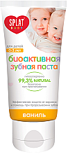 Düfte, Parfümerie und Kosmetik Bioaktive Kinderzahnpasta 0-3 Jahre mit Vanillegeschmack - Splat Baby 0-3