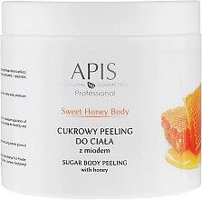 Düfte, Parfümerie und Kosmetik Zuckerpeeling für den Körper mit Honig - APIS Professional Sweet Honey Body Sugar Peeling