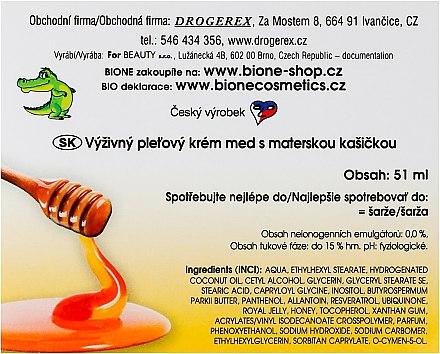 Nährende Gesichtscreme mit Honig und Q10 - Bione Cosmetics Honey + Q10 Cream — Bild N3