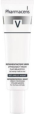 Ausgleichende Repigmentierungscreme für die Nacht zur Minimierung von Vitiligo-Läsionen für Gesicht und Körper - Pharmaceris V Vito-Melo Night Cream — Bild N1