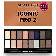Düfte, Parfümerie und Kosmetik Lidschattenpalette mit 16 Farben - Makeup Revolution Salvation Eyeshadow Palette Iconic Pro 2