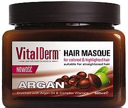 Düfte, Parfümerie und Kosmetik Haarmaske mit Arganöl und Vitamin-Komplex für gefärbtes Haar - VitalDerm Argana