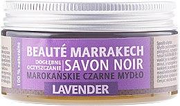 "Düfte, Parfümerie und Kosmetik Schwarze Naturseife ""Lavendel"" - Beaute Marrakech Savon Noir Moroccan Black Soap Lavender"