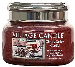 Duftkerze Cherry Coffee Cordial - Village Candle Cherry Coffee Cordial Petite Glass Jar — Bild N1