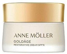 Düfte, Parfümerie und Kosmetik Regenerierende Anti-Aging Gesichtscreme SPF 15 - Anne Moller Goldage Restorative Cream SPF15