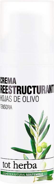 Feuchtigkeitsspendende Gesichtscreme - Tot Herba Crema Restructuring Cream of Olive Leaves — Bild N1