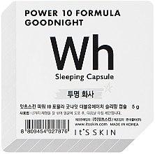 Düfte, Parfümerie und Kosmetik Aufhellende Schlafmaske für das Gesicht in einer Power-Kapsel - It's Skin Power 10 Formula Goodnight Sleeping Capsule WH