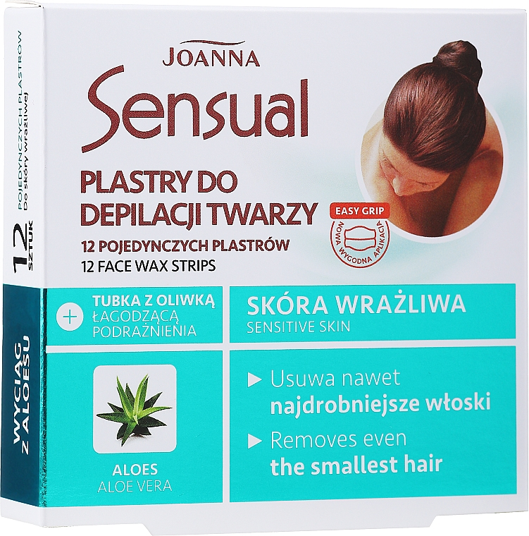 Enthaarungswachsstreifen für das Gesicht mit Aloeextrakt - Joanna Sensual Depilatory Face Strips — Bild N1