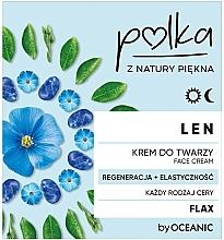 Düfte, Parfümerie und Kosmetik Regenerierende Gesichtscreme für mehr Elastizität mit Lein - Polka Face Cream