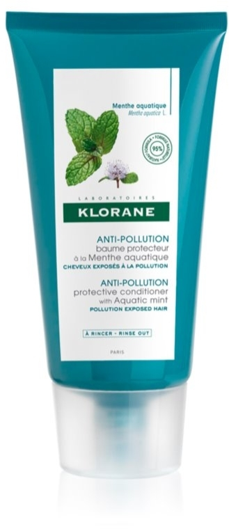 Haarpflegeset mit Minze - Klorane Aquatic Mint (Shampoo 200ml + Haarspülung 150ml) — Bild N3