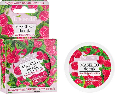 Feuchtigkeitsspendende Handbutter mit Himbeerextrakt - Bielenda Hand Butter Moisturizing Raspberry — Bild N1