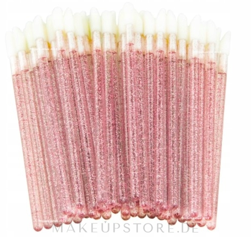 Velour-Applikatoren für Wimpern, Augenbrauen und Lippen rosa mit glanz - Lewer — Bild 50 St.