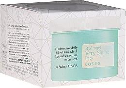 Düfte, Parfümerie und Kosmetik Beruhigende Hydrogelmaske für das Gesicht - Cosrx Hydrogel Very Simple Pack