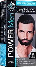 Düfte, Parfümerie und Kosmetik 3in1 Farbcreme für Haar, Bart und Schnurrbart - Joanna Power Man Color