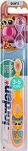 Düfte, Parfümerie und Kosmetik Kinderzahnbürste 3-5 Jahre weich Step by Step gelb mit Giraffe - Jordan