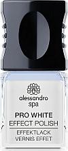 Düfte, Parfümerie und Kosmetik Gel Nagelüberlack Pro White  - Alessandro Spa Pro White Effect Polish