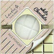 Düfte, Parfümerie und Kosmetik Mattierendes und fixierendes Reispuder mit Schokoladenduft für fettige und gemischte Haut - Lovely White Chocolate Rice Powder
