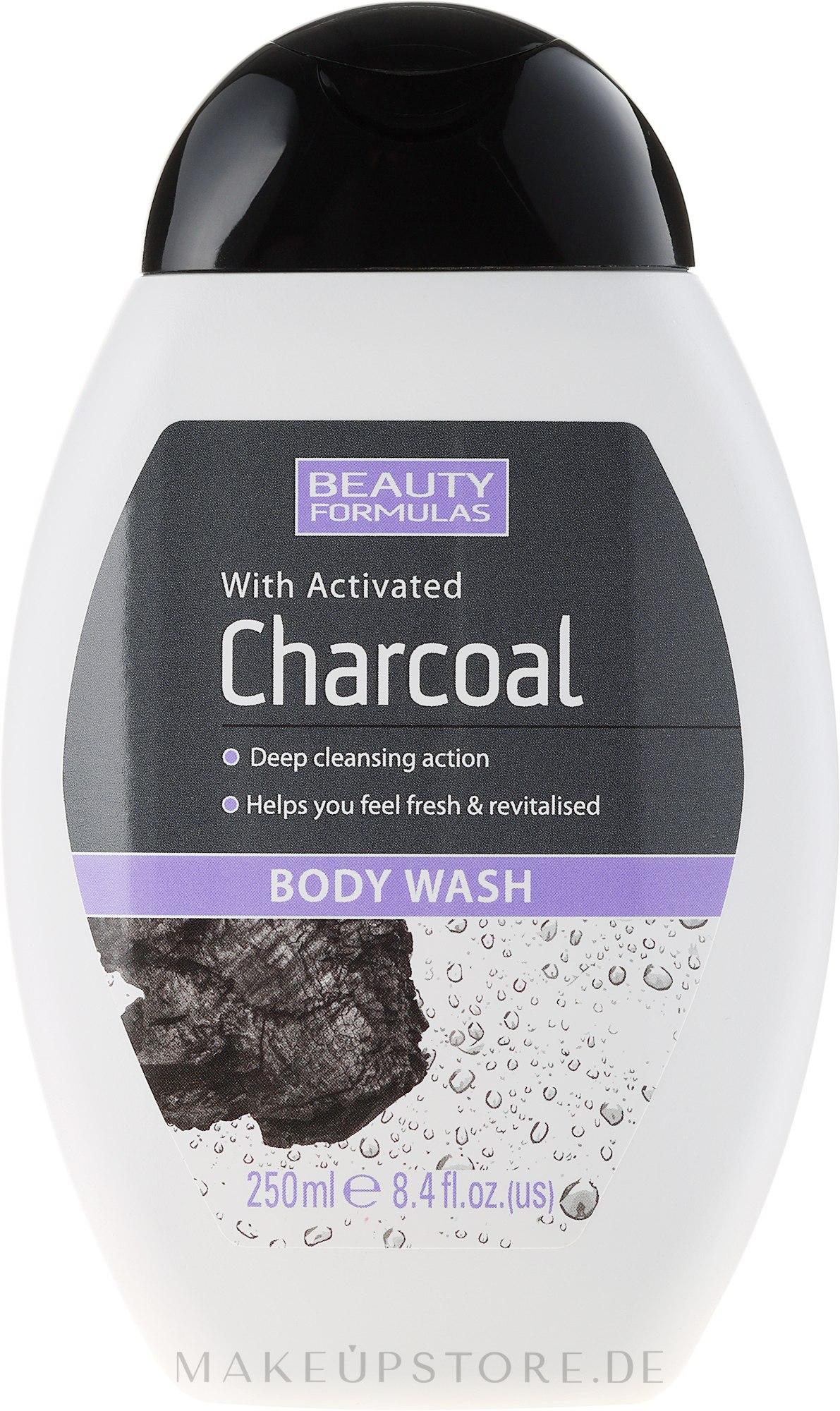 Duschgel mit Aktivkohle - Beauty Formulas Charcoal With Activated Body Wash — Bild 250 ml
