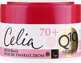 Düfte, Parfümerie und Kosmetik Fettige Anti-Falten Gesichtscreme mit Coenzym Q10 und Vitaminen E, C und F 70+ - Celia Q10 Face Cream 70+