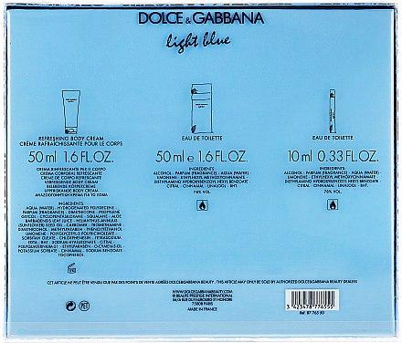 Dolce&Gabbana Light Blue - Duftset (Eau de Toilette 50ml + Körpercreme 50ml + Eau de Toilette 10ml) — Bild N3