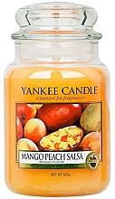 Düfte, Parfümerie und Kosmetik Duftkerze im Glas Mango Peach Salsa - Yankee Candle Mango Peach Salsa Jar