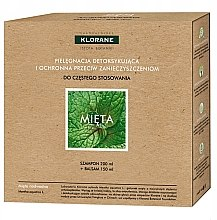 Haarpflegeset mit Minze - Klorane Aquatic Mint (Shampoo 200ml + Haarspülung 150ml) — Bild N1