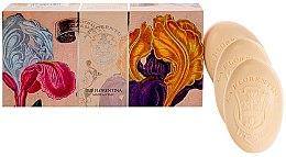 Düfte, Parfümerie und Kosmetik Seifenset mit frischem Irisduft 3 St. - La Florentina Iris Soap