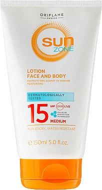 Sonnenschutzende Gesichts- und Körperlotion - Oriflame Sun Zone Face & Body Lotion SPF15 — Bild N1