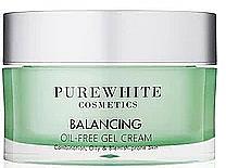 Düfte, Parfümerie und Kosmetik Gel-Creme für das Gesicht mit Gurken-, Kokos- und Algenextrakt - Pure White Cosmetics Balancing Oil-Free Gel Cream