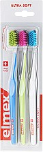Zahnbürste ultra weich Swiss Made blau, grün, weiß 3 St. - Elmex Swiss Made — Bild N1