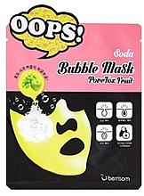 Düfte, Parfümerie und Kosmetik Porenreinigende Bubble-Maske für das Gesicht mit Apfel- und Traubenextrakt - Berrisom Soda Bubble Mask PoreTox Fruit