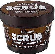 Düfte, Parfümerie und Kosmetik Körperpeelin mit Kakaobutter und natürlicher Kaffee - Cafe Mimi Body Scrub Coffee & Chocolate