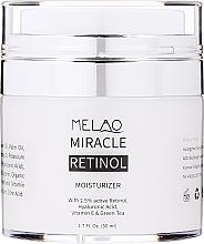 Düfte, Parfümerie und Kosmetik Feuchtigkeitsspendende Gesichtscreme mit 2.5% Retinol, Hyaluronsäure, Vitamin E und grünem Tee - Melao Retinol Moisturizer Face Cream