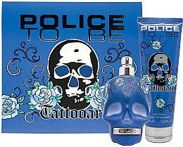 Düfte, Parfümerie und Kosmetik Police To Be Tattooart For Man - Duftset (Eau de Toilette/75ml + Duschgel/100ml)