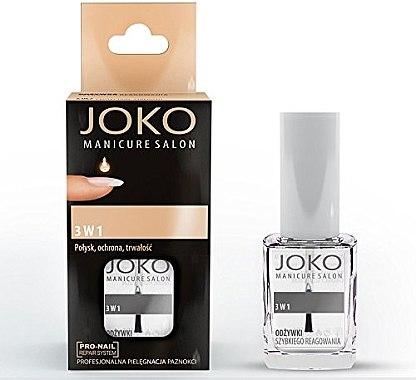 3in1 Schnelltrocknender und glänzender Unter- und Überlack - Joko Manicure Salon 3 in 1 Top — Bild N1