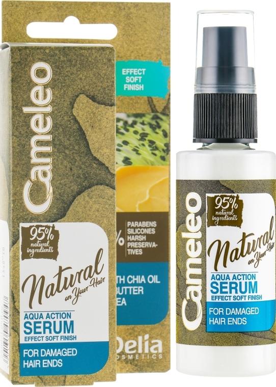 Serum für gespaltene Haarspitzen ohne Ausspülen - Delia Cameleo Natural On Your Hair Aqua Action Serum — Bild N1