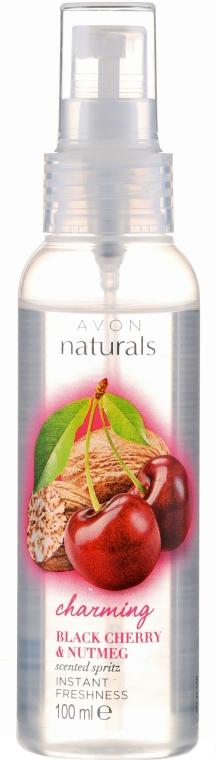 Körperspray schwarze Kirsche & Muskatnuss - Avon Naturals — Bild N1