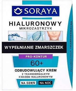 Regenerierende Tages- und Nachtcreme mit transdermaler Hyaluronsäure 60+ - Soraya Hialuronowy Mikrozastrzyk Regenerating Cream 40+ — Bild N1