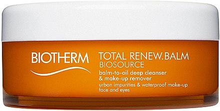 Beruhigender und feuchtigkeitsspendender Gesichtsreinigungsbalsam zum Abschminken - Biotherm Biosource Balm-In-Oil Deep Cleanser & Make-up Remover — Bild N1