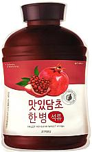 Düfte, Parfümerie und Kosmetik Feuchtigkeitsspendende und aufweichende Tuchmaske mit Obstessig und Granatapfel - A'Pieu Fruit Vinegar Sheet Mask Pomegranate