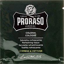 Erfrischende Feuchttücher für Bart und Gesicht mit Zypresse- und Vetyverduft - Proraso Cypress & Vetyver Refreshing Tissues — Bild N2