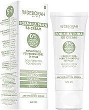 Düfte, Parfümerie und Kosmetik 5in1 Multifunktionale BB Creme mit Schutz vor Umwelteinflüssen LSF 20 - Deborah Milano Formula Pura BB Cream