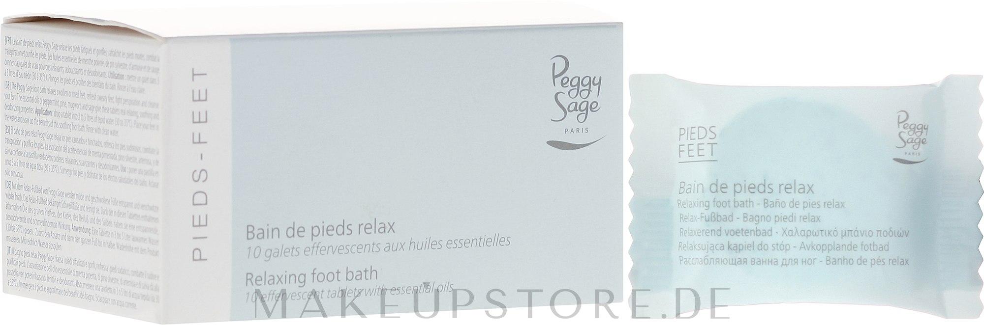 Enspannendes Fußbad mit Brausetabletten für müde, geschwollene Füße - Peggy Sage Feet Relaxing Foot Bath — Bild 10 St..